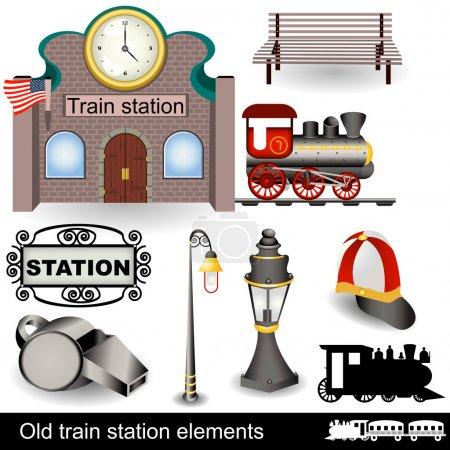 Elementos de la antigua estación