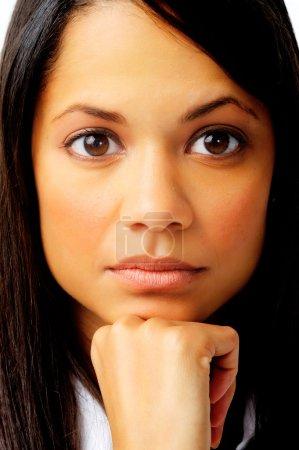 Close-up portrait of a businesswoman