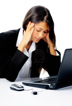 Businesswoman stressed out