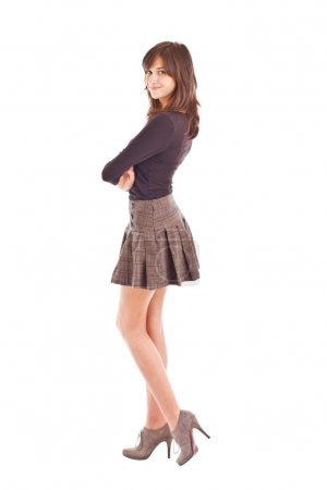 Teenage fashion model