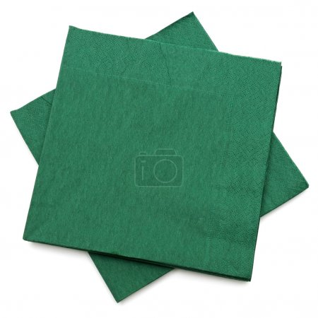 Photo for Green napkins isolated on a white background - Royalty Free Image