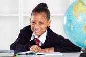 Happy elementary school girl