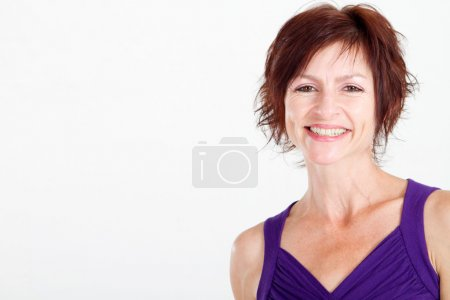 Foto de Closeup retrato de mujer de edad media feliz - Imagen libre de derechos
