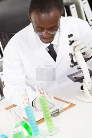 Male african american lab technician