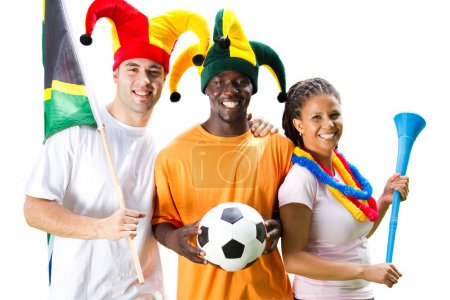 Group of south african soccer fans