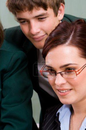 Belle enseignante et étudiante
