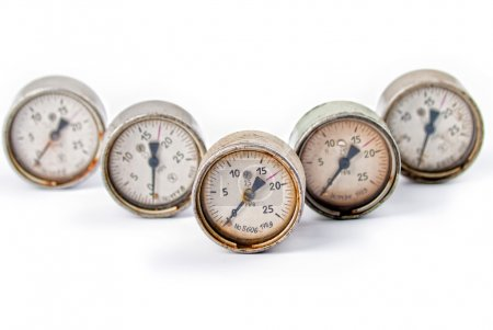 Five of the old gauges