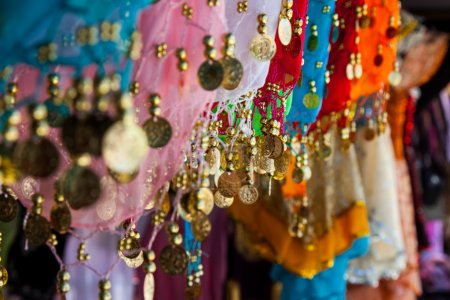 Photo for Belly dance costume details, tunisian bazar - Royalty Free Image
