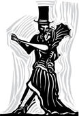 Gothic Couple Dancing A