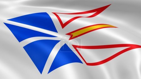 Newfoundland and Labrador flag in the wind