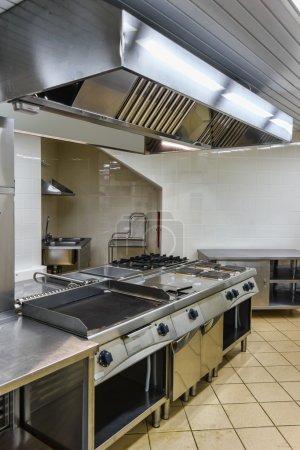 intérieur de la cuisine industrielle