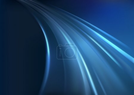 Photo for Blue Glowing Rays - Abstract Background Illustration - Royalty Free Image
