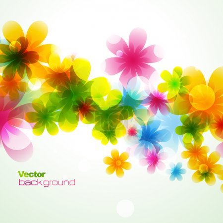 Illustration for Vector beautiful flower background art - Royalty Free Image