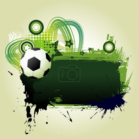 Illustration for Football vector art with space for text - Royalty Free Image