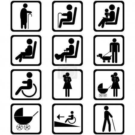 Photo pour Signaux zone de priorité sièges - image libre de droit
