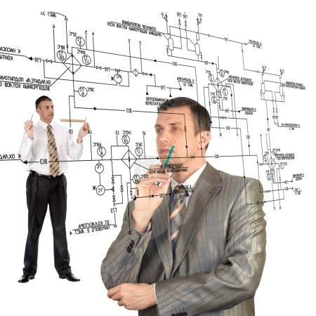 Engineering automation designing.Teamwork