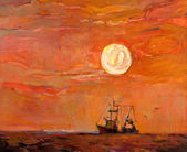 "Постер, картина, фотообои ""рыбацкая лодка"""