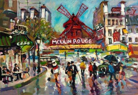 painting of cabaret in Paris
