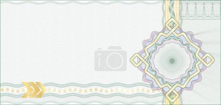 Illustration pour Arrière-plan Guilloche sécurisé pour chèque-cadeau, coupon ou billet / éléments sont en couches pour faciliter l'édition - image libre de droit