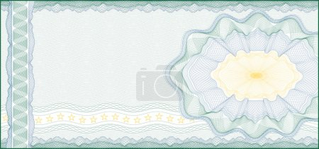 Background for Voucher, Gift Certificate, Coupon or Banknote /