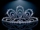 Diamond Diadem feminine wedding  vector illustration