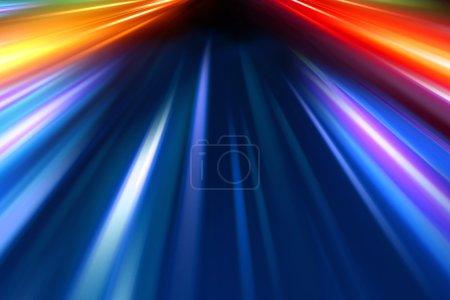 Photo pour Abstrait nuit accélération vitesse mouvement - image libre de droit