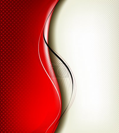 3D red background composition