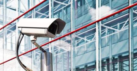 Security Camera in a Modern Office