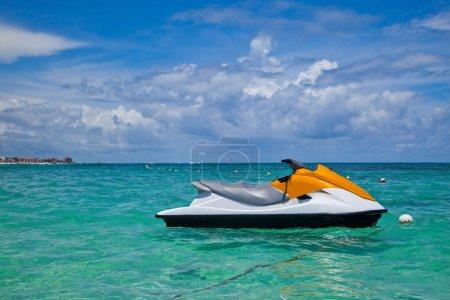Jet Ski Moored in the Caribbean Sea