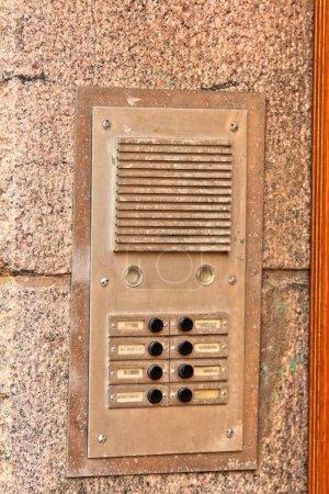 Gegensprechanlage. elektronisches Gerät für die Kommunikation. Sicherheitssystem