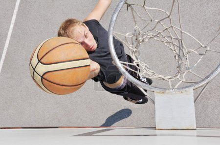Basketball player shooting the ball