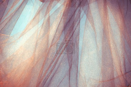 Photo for Tulle fantasy background, back light, horizontal - Royalty Free Image