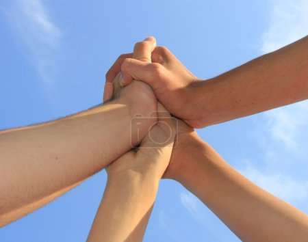 Photo for Hands together, synergy - Royalty Free Image