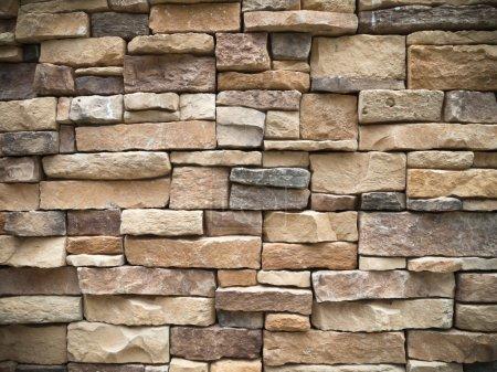 Photo pour Textrue de vieux mur de pierre rectangulaire pour fond - image libre de droit
