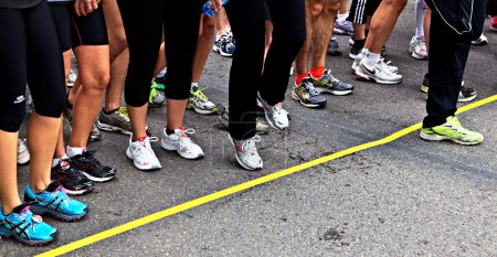Photo for Runner on the starting line - Royalty Free Image