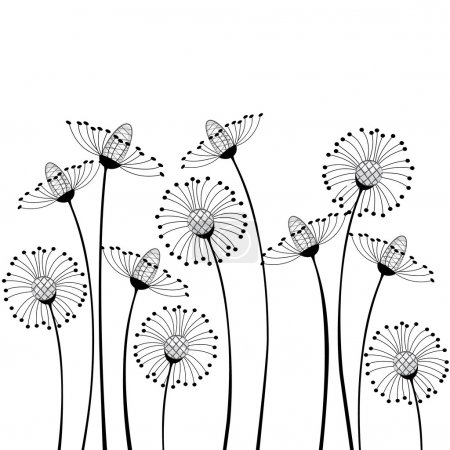 Meadow flowers on white background...