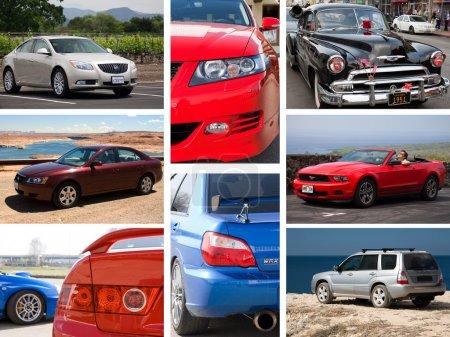 Коллаж автомобилей