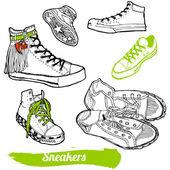 Set of cartoon sneaker