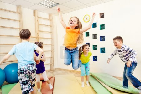 Photo for Group of children enjoying gym class - Royalty Free Image