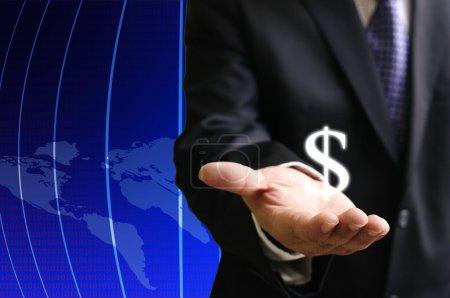 Photo pour Les investisseurs montrent les bénéfices de la mondialisation - image libre de droit