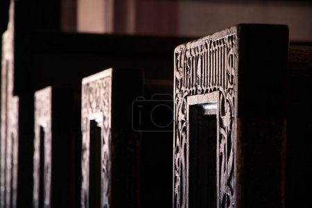 Seating in the catholic church of St. Valentinus i...