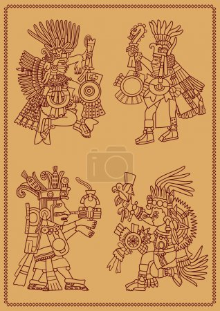 Four American Indians maya