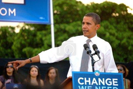 Барак Обама в bayfront park 2008