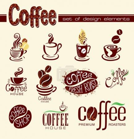 Illustration pour Du café. Éléments de conception . - image libre de droit