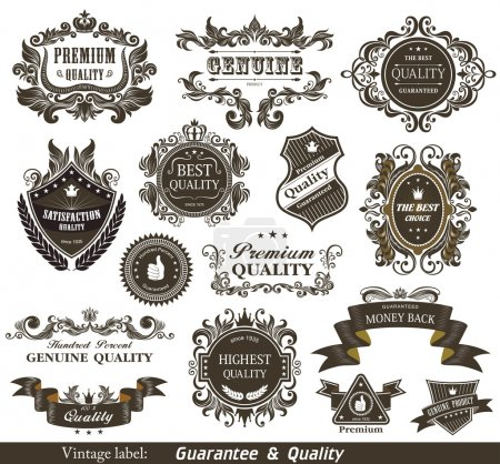 Vintage Styled Premium Quality and Satisfaction Guarantee Label.