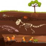 Vector illustration of a underground...