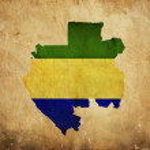 Постер, плакат: Vintage map of Gabon on grunge paper