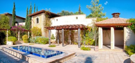 Photo for Traditional Mediterranean villa with courtyard and fountain - Royalty Free Image