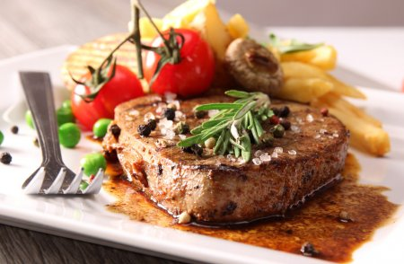 Photo for Grilled beef steak close-up - Royalty Free Image