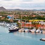 Постер, плакат: Tropical Harbor On Aruba Oranjestad